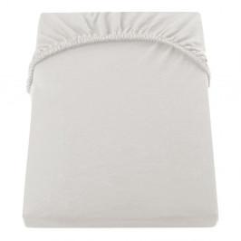 Krémová elastická bavlnená plachta DecoKing Amber Collection, 100-120×200 cm