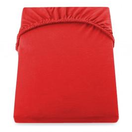 Červená elastická plachta z mikrovlákna DecoKing Amber Collection, 80-90×200 cm