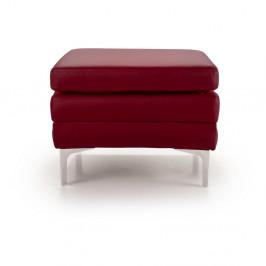 Červená kožená lavica Softnord Twigo