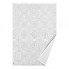 Biely vzorovaný obojstranný koberec Narma Raadi, 160×100 cm