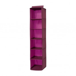 Závesný obal na šaty vo vínovej farbe Compactor Pina, dĺžka 128 cm
