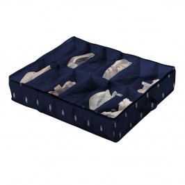 Tmavomodrý úložný box na topánky Compactor Kasuri Range