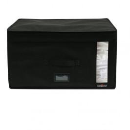 Čierny úložný box s vákuovým obalom Compactor Infinity, objem 100 l