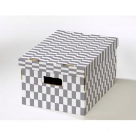 Sada 2 škatúľ s viečkom z vlnitej lepenky Compactor Lenny, 40 × 31 × 21 cm
