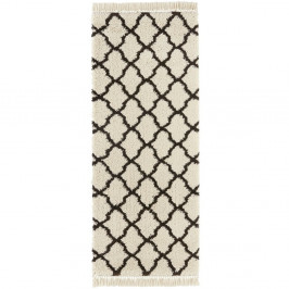 Krémovo-čierny behúň Mint Rugs Marino, 80 x 200 cm