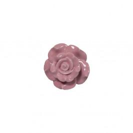 Ružová kameninová dekoratívna úchytka Antic Line Belarosa