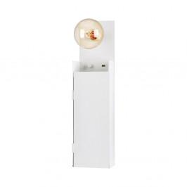 Biele nástenné světlo so skříňkou Markslöjd Combo