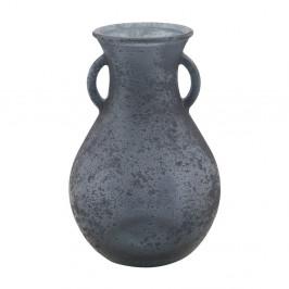 Modrá váza z recyklovaného skla Mauro Ferretti Anfora, ⌀ 15 cm