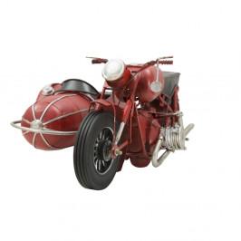 Dekoratívna kovová motorka Mauro Ferretti Sidecar