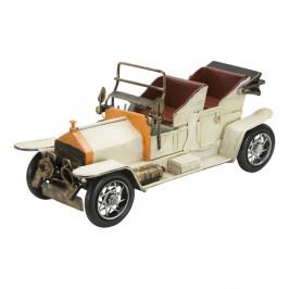 Dekoratívne biele kovové auto Mauro Ferretti Old Car