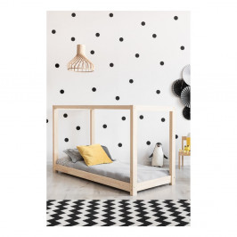Domčeková posteľ z borovicového dreva Adeko Mila KM, 70 x 140 cm