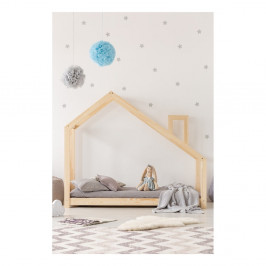 Domčeková posteľ z borovicového dreva Adeko Mila DMS, 90 × 200 cm