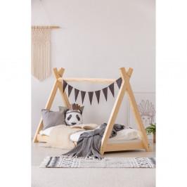 Domčeková posteľ z borovicového dreva Adeko Mila TP, 70×160 cm