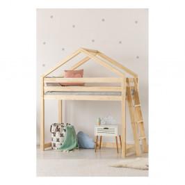 Domčeková poschodová posteľ z borovicového dreva Adeko Mila DMPBA, 90 × 200 cm