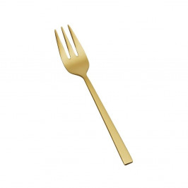 Dezertná vidlička v zlatej farbe Bitz