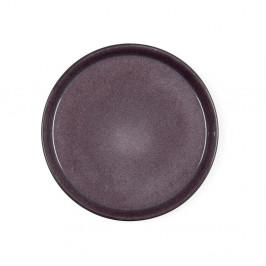 Slivkovofialový kameninový plytký tanier Bitz Mensa, priemer 27 cm