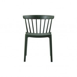Tmavozelená jedálenská stolička vhodná do interiéru aj exteriéru WOOOD Bliss