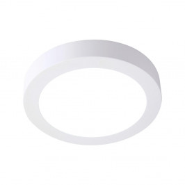 Biele kruhové stropné svietidlo SULION, ø22,5 cm