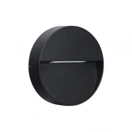 Tmavosivé kruhové nástenné svietidlo SULION Kamal, ø15 cm