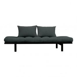 Pohovka s tmavosivým poťahom Karup Design Pace Black/Slate Grey