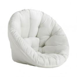 Biele rozkladacie kresielko vhodné do exteriéru Karup Design Design OUT™ Nido White