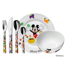 6-dielna sada detských antikoro príborov a riadu WMF Mickey Mouse