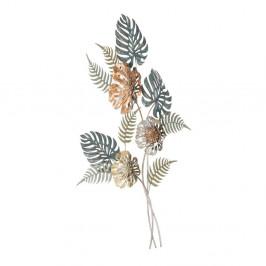 Železná nástenná dekorácia s prírodnými motívmi Mauro Ferretti Too, výška 98 cm