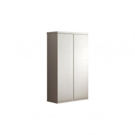 Biely šatník Vipack Lara White, výška 204 cm