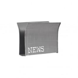 Sivý kovový stojan na časopisy LABEL51