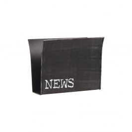 Čierny kovový stojan na časopisy LABEL51