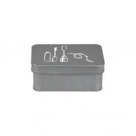 Sivý kovový box na kosmetiku LABEL51