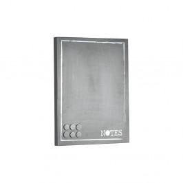 Sivá kovová nástenka na odkazy LABEL51 Memo