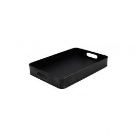 Čierny kovový servírovací podnos LABEL51, 39 x 27 cm