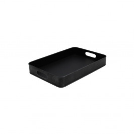 Čierny kovový servírovací podnos LABEL51, 44 x 30 cm