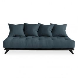 Pohovka s modrým poťahom Karup Design Senza Black/Petrol Blue