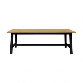 Hnedo-čierny jedálenský stôl Actona Elli
