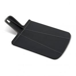 Čierna skladacia doštička na krájanie Joseph Joseph Chop2Pot Plus, dĺžka38cm