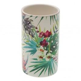 Keramický pohárik na zubné kefky Versa Flower, ø 6,5 cm