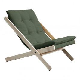 Olivovozelené skladacie kreslo z bukového dreva Karup Design Boogie Raw/Olive Green