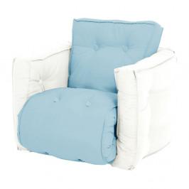 Detské svetlomodré rozkladacie kresielko Karup Design Mini Dice Blue/Natural