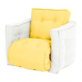 Detské žlté rozkladacie kresielko Karup Design Mini Dice Yellow/Natural
