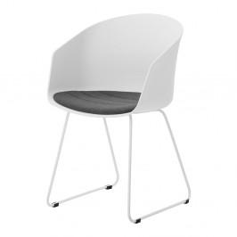 Biela jedálenská stolička s bielymi nohami Interstil Moon 40