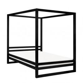 Čierna drevená dvojlôžková posteľ Benlemi Baldee, 190 × 160 cm