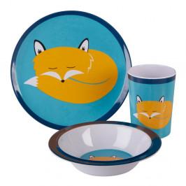 3-dielny detský jedálenský set Premier Housewares Mimo Felix Fox
