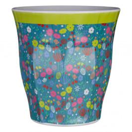 Modrý hrnček s motívom kvetín Premier Housewares Casey, 3 dl