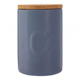 Modrá dóza na kávu s bambusovým vrchnákom Premier Housewares Fenwick