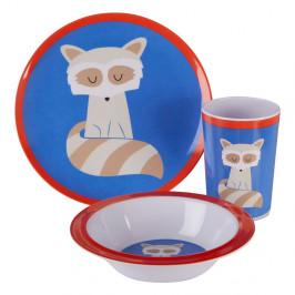 3-dielny jedálenský set pre deti s motívom mačky Premier Housewares