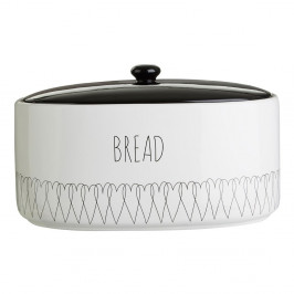 Dóza na chlieb z dolomitu Premier Housewares Heartlines, 32 x 22 cm