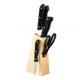 Set nožov s dreveným blokom Wooden, 6 ks