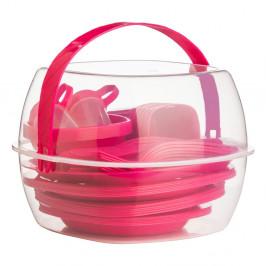 Pikniková sada Premier Housowares Hot Pink, 51ks